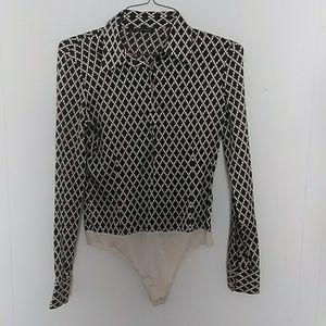 Tahari Long Sleeved Body Suit